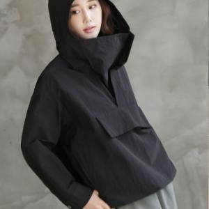 フードジャンパー レディース 40代 50代 60代 ファッション おしゃれ 女性 上品  黒  ベージュ ゆったり ジャンパー無地 長袖 冬 ミセス|alice-style