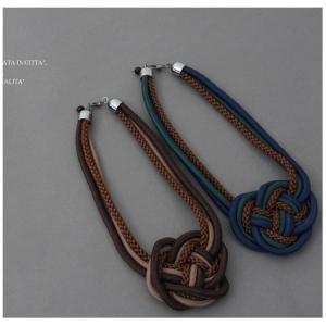 ネックレス ロープ 30代 40代 50代 レディース 大人 ネイビー alice-style