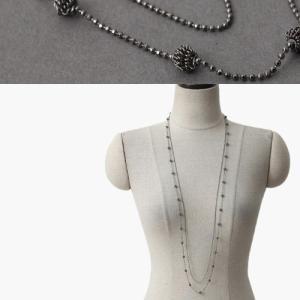 ネックレス レディース 40代 50代 60代 ファッション 女性 上品  黒ロング 春 ミセス|alice-style