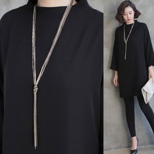 ネックレス 2018 春 50代 40代 60代 ファッション 女性 黒|alice-style