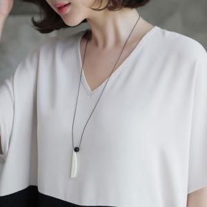 ネックレス レディース 大人 ロング丈 ロングネックレス 2018 春 50代 40代 60代 ファッション 女性 黒 ピンク|alice-style