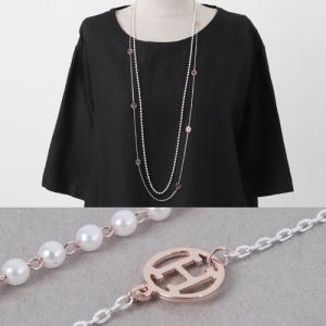 ネックレス レディース 40代 50代 60代 ファッション おしゃれ 女性 上品 パール レイヤード 2連 春夏秋 ミセス alice-style