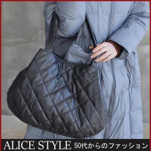 ハンドバッグ レディースバッグ 40代 50代 60代 ファッション 女性 上品  茶色 紺 青キルティング 冬 ミセス|alice-style