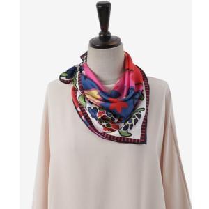 スカーフ レディース 40代 50代 60代 ファッション 女性 上品  赤 シルク100% 春夏 ミセス|alice-style
