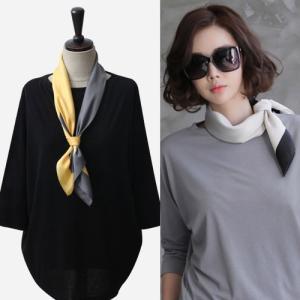 スカーフ 2018 春 50代 40代 60代 ファッション 女性 黒 ベージュ ネイビー ピンク|alice-style