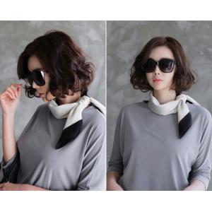 スカーフ 2018 春 50代 40代 60代 ファッション 女性 黒 ベージュ ネイビー ピンク|alice-style|02