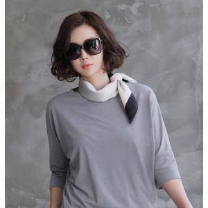 スカーフ 2018 春 50代 40代 60代 ファッション 女性 黒 ベージュ ネイビー ピンク|alice-style|03
