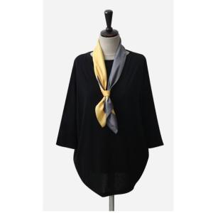 スカーフ 2018 春 50代 40代 60代 ファッション 女性 黒 ベージュ ネイビー ピンク|alice-style|05