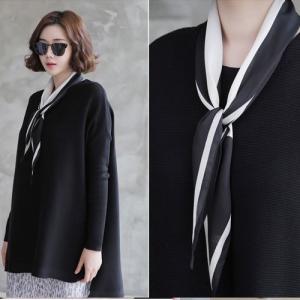 スカーフ 2018 春 50代 40代 60代 ファッション 女性 黒 グレー ベージュ ネイビー ピンク|alice-style