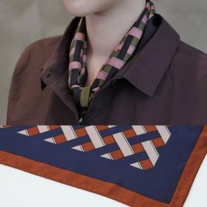 スカーフ レディース 大人 幾何学模様 2018 秋 50代 40代 60代 ファッション 女性 alice-style