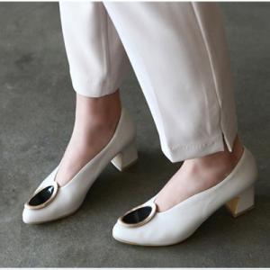 パンプス レディース 大人 40代 50代 60代 ファッション 女性 上品 黒 グレー太ヒール チャンキーヒール 本革 レザー 春 ミセス|alice-style
