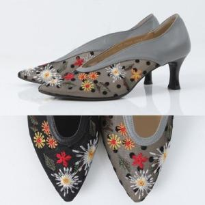 パンプス レディース 大人 40代 50代 60代 ファッション 女性 上品 黒 グレー切り替え ピンヒール ハイヒール ポインテッドトゥ 春 ミセス|alice-style