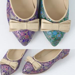 パンプス レディース 大人 40代 50代 60代 ファッション 女性 上品 フラットパンプス リボン 花柄 春 ミセス alice-style