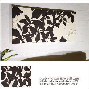 ファブリックパネル アリス ReefBrown1 リーフブラウン 90×40×3cm  植物 壁インテリア インテリア アート ボード Reef 厚型軽量|alice55