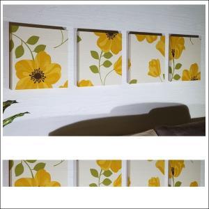 【送料無料】 CLARA 30×30cm 4枚組 アドルノファブリックパネル adorno クララ イエロー 黄色 ファブリックアート|alice55