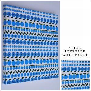 単品 ファブリックパネル アリス Lotta minifruit 30×30cm 単品販売 ブルー ロッタ 北欧|alice55