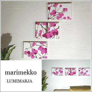 ファブリックパネル コンパクトサイズ marimekko LUMIMARJAPINK 30×20cm...