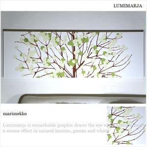 marimekko/ルミマルヤ/ファブリックボード/アートパネル/マリメッコ/LUMIMARJA/緑/140×43/【大型商品ヤマト便・時間指定不可】|alice55