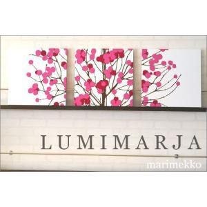 ファブリックパネル アリス marimekko LUMIMARJAPINK 40×40cm 3枚セット ピンク マリメッコ 人気インテリア おすすめ 北欧 ルミマルヤ LUMIMARJA|alice55
