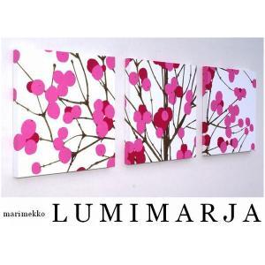 ファブリックパネル アリス marimekko LUMIMARJAPINK 30×30cm 3枚セッ...