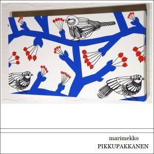 marimekko PIKKUPAKKANEN 40×22cm マリメッコ ピックパッカネン レッド ブルー インテリア リビング おすすめ シンプルインテリア 小鳥|alice55
