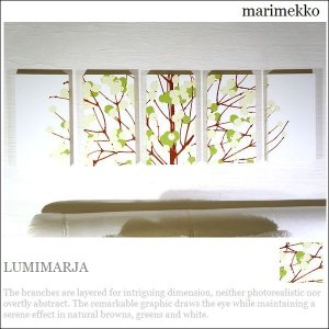 北欧ファブリックパネル アリス marimekko LUMIMARJA green 40×22cm ...