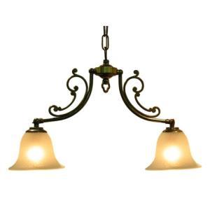 (アンティーク照明) CP20AB 416 (2灯ペンダントランプ) (アリスの時間)