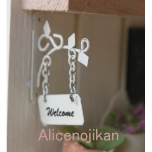 ミニチュア ハンギングプレートホワイト (/ガーデニング/ミニチュア/雑貨/インテリア アンティーク ミニチュア 家具 ガーデニング雑貨)  (アリスの時間)|alicenojikan8