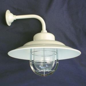 (アンティーク照明) (LED電球対応) マリンブラケットシェードライト WT(ホワイト&透明) (アリスの時間)|alicenojikan8