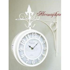 オールドストリート ボスサイドクロック アンティーク両面時計 L  (アリスの時間)|alicenojikan8