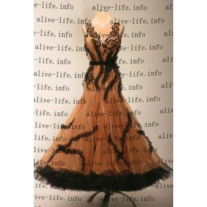 社交ダンス衣装 社交ダンスドレス モダンドレス デモ用ドレス セミオーダードレス ラテンドレス ワンピース WB3894|alive-life