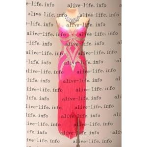社交ダンス衣装 社交ダンスドレス モダンドレス デモ用ドレス セミオーダードレス ラテンドレス ワンピース WL391|alive-life