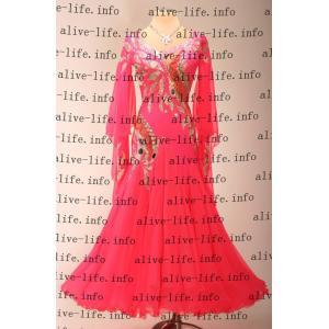 社交ダンス衣装 社交ダンスドレス モダンドレス デモ用ドレス セミオーダードレス ラテンドレス ワンピース WB3911|alive-life