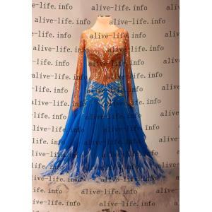 社交ダンス衣装 社交ダンスドレス モダンドレス デモ用ドレス セミオーダードレス ラテンドレス ワンピース WB3913|alive-life