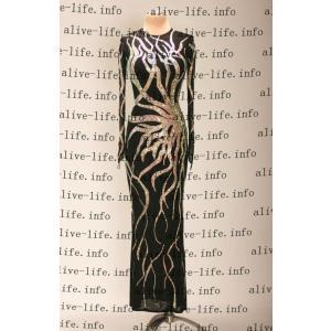 社交ダンス衣装 社交ダンスドレス モダンドレス デモ用ドレス セミオーダードレス ラテンドレス ワンピース WL393|alive-life