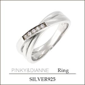 ピンキー&ダイアン ピンキーリング 指輪 レディース シルバー スリーライン ジルコニア 2-6号 ...