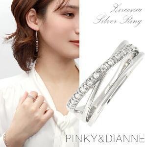 ピンキー&ダイアン リング 指輪 レディース 3連風 シルバ...