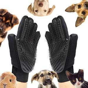 ペットブラシ グローブ 猫 手袋 犬 グローブ ペット毛取りブラシ お手入れ グルーミンググローブ(ブラック) all-box-1-100