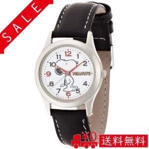 [シチズン Q&Q] 腕時計 アナログ スヌーピー 防水 革ベルト AA95-9854 レディース ブラック|all-box-1-100
