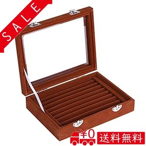 SPIEA 指輪 ボックス ベルベット調 ジュエリーケース アクセサリー リング ディスプレイ アクセサリー 収納ケー|all-box-1-100