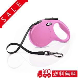 フレキシ (flexi) ニュークラシック テープ M(25kg未満) 5m ピンク [犬用リード] all-box-1-100