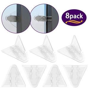 安全ロック、VIAKY ベビーガード 最新型 窓ストッパー クリアカラー 窓ロック 引き戸 ストッパー 子供・ペット|all-box-1-100