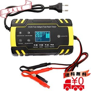 Fanaticalpurchasejpバッテリー充電器 バッテリーチャージャーメンテナンス充電器 大電流 12V 24V全自動4ステージ充電|all-box-1-100