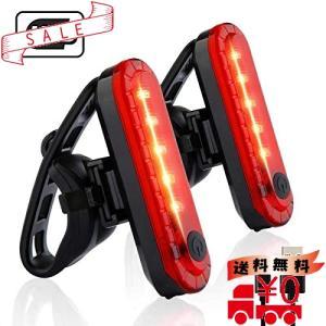 Volcano Eye 自転車 テールライト 2個セット USB充電LEDライト 防水点滅サイクルライト 4点灯モード セーフティーラ|all-box-1-100