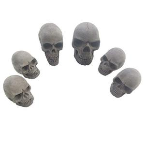 6個セット skull charcoal ドクロ型の炭、スカル型着火剤、スカル型木炭、燃える頭骨|all-box-1-100