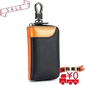 スマートキーケース キーケース カードケース レザー 車キーケース 6連 小銭入れ カード入れ 2つ外側ポケット|all-box-1-100