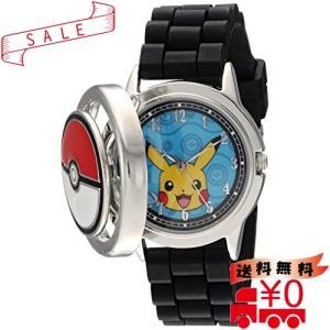 Pokemon メンズ カジュアルウォッチ クオーツ メタル&シリコン ブラック (型番: POK9025)|all-box-1-100