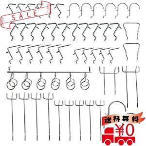 パンチングボード 有孔ボード 専用 T型 フック メッシュフック 穴 ピッチ ボードフック パンチングボードフッ|all-box-1-100