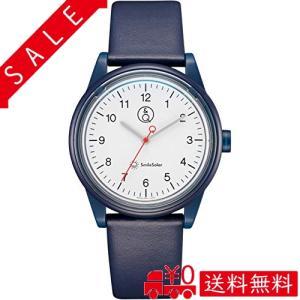 [シチズン Q&Q] 腕時計 アナログ スマイルソーラー リンクコーデ 防水 革ベルト RP26-001 ブルー|all-box-1-100