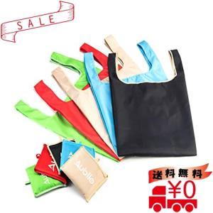 Aubllo エコバッグ 折りたたみ ショッピングバッグ 再利用可能なバッグ 5色/パック大容量 防水 買い物袋 最大積|all-box-1-100